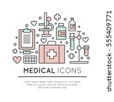 vector icon style illustration... | Shutterstock .eps vector #555409771