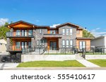 luxury west coast style house... | Shutterstock . vector #555410617