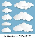 vector illustration clouds... | Shutterstock .eps vector #555417235