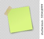 post note paper sticker... | Shutterstock .eps vector #555418999