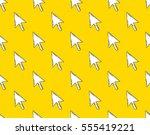 cursor. colored flat line...   Shutterstock .eps vector #555419221