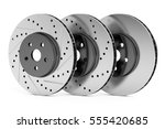 car discs brake rotors  drilled ... | Shutterstock . vector #555420685