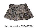 pattern mini skirt isolated on... | Shutterstock . vector #55542730