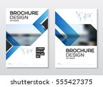 business brochure design.... | Shutterstock .eps vector #555427375
