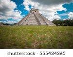 pyramid at chichen itza  mexico | Shutterstock . vector #555434365