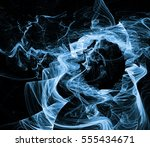 abstract fractal background.... | Shutterstock . vector #555434671