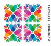 seamless pattern   overlapping... | Shutterstock .eps vector #555441961