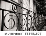 Black And White Iron Fence In...