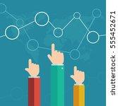 hands of business people making ...   Shutterstock . vector #555452671