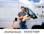delivery boy | Shutterstock . vector #555457489