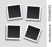square frame template with... | Shutterstock .eps vector #555468331