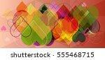 valentine idea background | Shutterstock .eps vector #555468715
