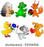 the kit of the scenes animal  ... | Shutterstock . vector #55546906