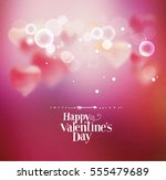 background with hearts for... | Shutterstock .eps vector #555479689