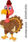 cute turkey cartoon posing   Shutterstock .eps vector #555491431