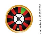 roulette casino related icons... | Shutterstock .eps vector #555507355