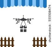 drone  quadrocopter icon vector ...   Shutterstock .eps vector #555508474