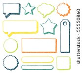 hand drawn vector banners and... | Shutterstock .eps vector #55550860