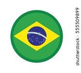3d button flag of brazil....