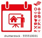 realty developer calendar day... | Shutterstock .eps vector #555510031
