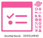todo items calendar page icon...   Shutterstock .eps vector #555514945