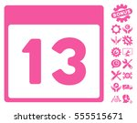thirteenth calendar page icon...   Shutterstock .eps vector #555515671