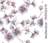 seamless pattern with violet...   Shutterstock . vector #555522175