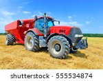 tractor with a tank for... | Shutterstock . vector #555534874