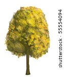 autumn tree | Shutterstock . vector #55554094