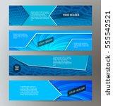 set design elements business... | Shutterstock .eps vector #555542521