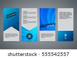 design elements presentation... | Shutterstock .eps vector #555542557
