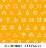 travel and tourism background... | Shutterstock .eps vector #555543799