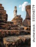 ancient buddha at wat...   Shutterstock . vector #555548779