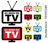 collection of as seen on tv... | Shutterstock .eps vector #55555189