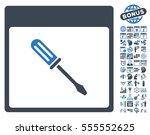 screwdriver calendar page... | Shutterstock .eps vector #555552625