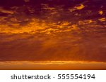 sunrise sky covered with... | Shutterstock . vector #555554194