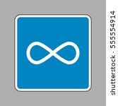 limitless symbol illustration.... | Shutterstock .eps vector #555554914
