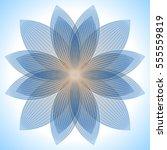 abstract blue lotus flower.... | Shutterstock .eps vector #555559819