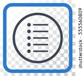 items smooth blue vector icon....
