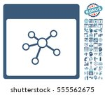 links calendar page pictograph... | Shutterstock .eps vector #555562675