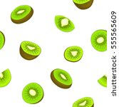 seamless vector pattern of ripe ... | Shutterstock .eps vector #555565609