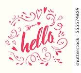 vector lettering design element ...   Shutterstock .eps vector #555574639