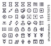 line essential icons 68 | Shutterstock .eps vector #555575575