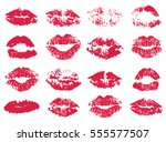 vector set of stylized red...