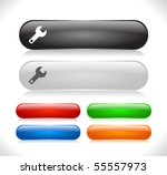 buttons for web. vector. | Shutterstock .eps vector #55557973