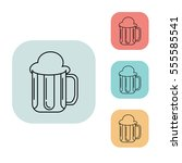 beer icon  outline thin line...