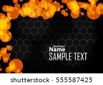 orange abstract template for... | Shutterstock .eps vector #555587425