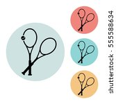 tennis rackets icon isolated...