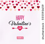 happy valentines day card  | Shutterstock .eps vector #555593659