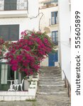 Small photo of A beautiful alleyway in the Mediterranean town of Cadaques. Girona, Catalonia